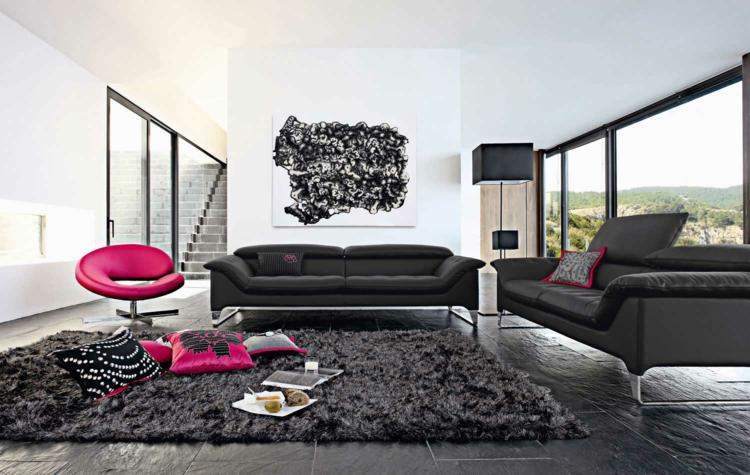 Comment décorer son salon avec un canapé noir - Annuaire des architectes